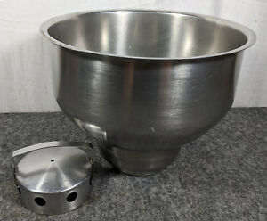 Stainless Steel Milk Can Funnel Filter Heavy Good Quality Used 13 Across