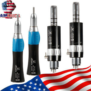 2 Kits Nsk Style Dental Slow Speed Straight Handpiece With 4 Hole Air Motor C