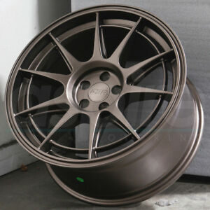 18 Esr Sr13 Wheels Bronze 18x8 5 5x100 30 For Vw Golf Jetta Passat Mk4 Rims