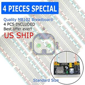 3x Mb 102 830 Point Prototype Pcb Solderless Breadboard Protoboard Us