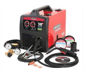 Electric Lincoln 140 Amp Mig Welder W Magnum Gun Sample Mig flux Wire 115v
