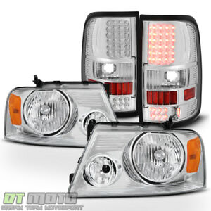 2004 2008 Ford F150 F 150 Headlights styleside Bed Led Tail Lights Brake Lamps