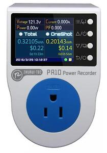 Pr10 e Us15a Plug Power Meter Energy Voltage Amps Electricity Monitor Analyzer