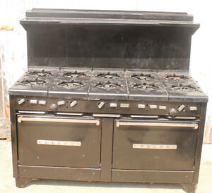 Garland 10 Burner Gas Stove Range W Double Oven