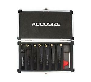 Accusizetools 7 Pieces set 1 2 Indexable Carbide Turning Tool Set In