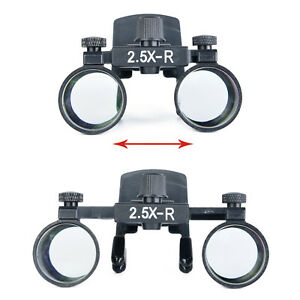 Dental Lab 2 5x Clip Type Surgical Medical Binocular Loupes Magnifier