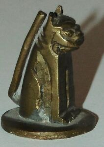 Antique Miniature Brass Foo Dog Chinese