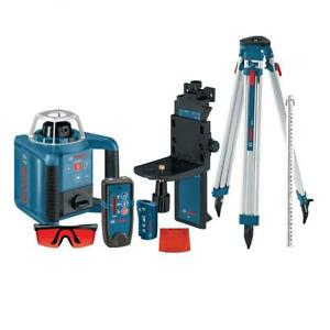Bosch Self leveling Rotary Laser With Layout Beam Kit Receiver Remote