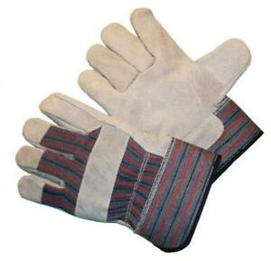 G F 50155 60 Regular Cowhide Leather Work Gloves With Rubberized Safety
