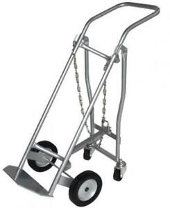 Milwaukee Hand Trucks 40767 Medical Cylinder Truck 1 Gas With Retractable