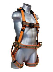 Warthog Maxx Construction Full Body Harness With Tongue Buckle Legs Side