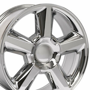 20x8 5 Chrome Tahoe Ltz Style Wheels Set Of 4 Rims Fit Chevrolet Gmc Yukon Oew