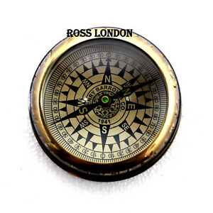 Ross London Vintage Reproduction Nautical 3 5 Brass Compass Home Decorative