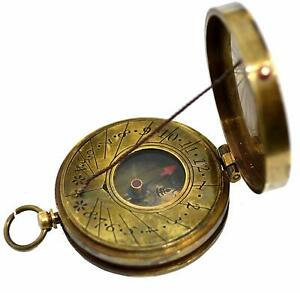 Ross London Antique Brass The Mary Rose Thread Sundial Compass 1 5 Antique