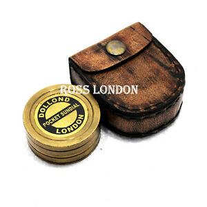 Ross London Pocket Sundial Compass London Both Side Work On The Compass