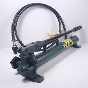 Hydraulic Hand Pump Simplex P 41 10000psi Comes With 72 Hose New