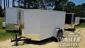 New 2019 5 X 8 5x8 V nosed Enclosed Cargo Motorcycle Trailer W Rear Swing Door