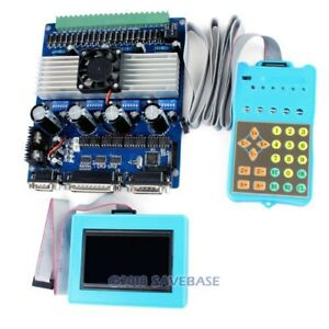 4axis Cnc Router Tb6560 Stepper Driver Set Display Control Pad Gcode Recorded