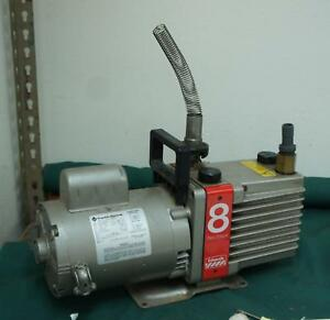 Edwards E2m8 8 Rotary Vane Two stage Vacuum Pump Tested Working Great W898