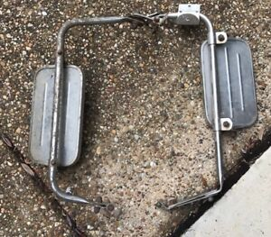 Vintage Ford Script Truck F100 F150 Ranger West Coast Jr Stainless Mirrors
