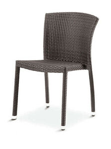New Florida Seating Outdoor Restaurant Aluminum Weave Side Chair