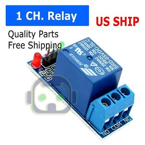 One 1 Channel Relay Module Shield 5v Control 250v 10a W Optocoupler For Arduino