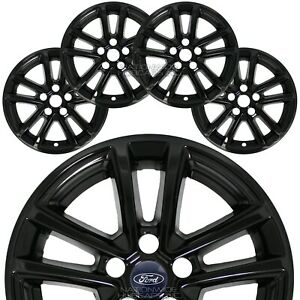 4 Black 15 18 Ford Focus Se 16 Wheel Covers Rim Skins Hub Caps Fit Alloy Whe