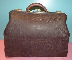 Antique Leather Doctors Bag Large