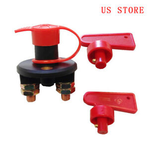 12v Auto Car Boat Truck Battery Disconnect Power Cut Off Kill Switch With 2 Keys