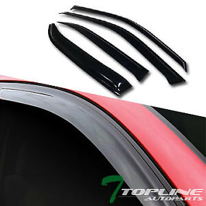 Topline For 1996 2000 Honda Civic Sedan Sun Rain Guard Vent Shade Window Visors