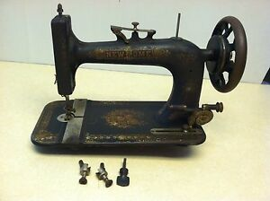 Vintage New Home Treadle Sewing Machine Head Great Decorator Piece
