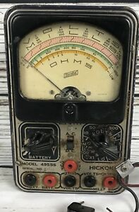 1930s Hickok Volt ohm milliamp re meter 4955s