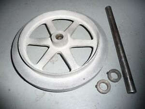Back Drive Pulley And Shaft For 200 Series Logan Lathe