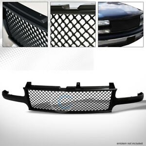 Black Mesh Front Hood Bumper Grill Grille Guard Cover Abs 00 06 Tahoe Suburban