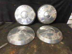 1961 1962 Ford Poverty Dog Dish Hubcaps Set Of 4 galaxie Starliner Sunliner