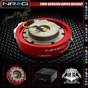 Universal Nrg Steering Wheel 6 Hole Thin Version Quick Release Adaptor Kit Red