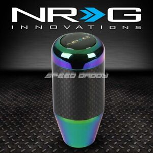 Nrg Racing Manual 5 6 speed Mt Stick Shift Knob rod Real Carbon Fiber neo Chrome