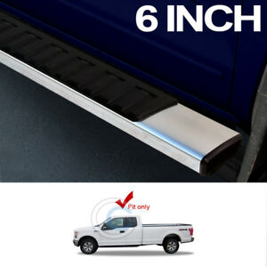 6 Oe Style Aluminum Side Step Rail Running Boards 15 18 F150 Super Extended Cab