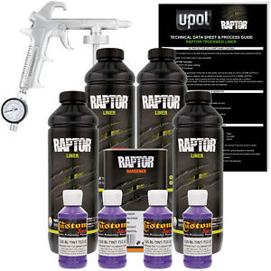 Raptor Bright Purple Urethane Spray on Truck Bed Liner Spray Gun 4 Liters