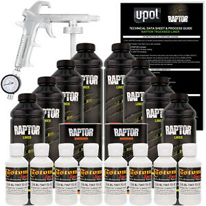 Raptor Bright White Urethane Spray on Truck Bed Liner Spray Gun 8 Liters