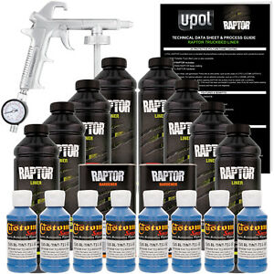 Raptor Reflex Blue Urethane Spray on Truck Bed Liner Spray Gun 8 Liters