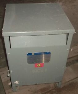 Square D 25s3h 25kva Insulated Transformer Aa 13151 12212 01 Type S 49