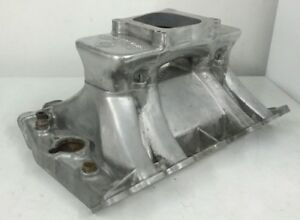 Offenhauser Turbo Thrust 360 Single Carb Tunnel Ram Oldsmobile Intake Manifold