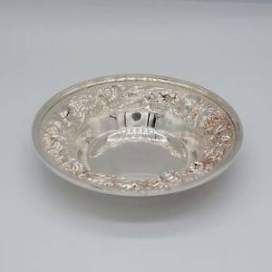 Stieff Rose Pattern Sterling Silver Candy Dish