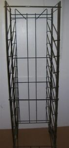 Store Display Fixtures Rolling Rack With Tilted Shelves 75 Tall Red