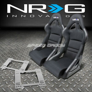 Nrg Deep Bucket Racing Seats Cushion Stainless Steel Bracket For Camaro Trans Am