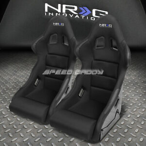 Nrg Carbon Fiber Bucket Racing Seat Seats Steel Adjuster Mount Bracket Cushion