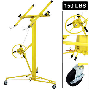 16ft Drywall Lift Plasterboard Panel Rolling Lifter Lockable Industrial Tool