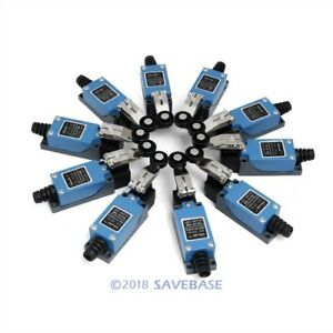 10pcs Copper Terminal Micro Limit Switch 1no 1nc Long Hinge Roller 4pins For Cnc