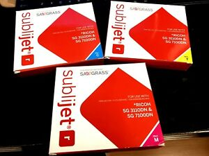 Sawgrass Sublimation Ink For Ricoh Sg 3220dn 7100dn Printers expired Ymc